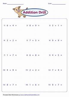 addition worksheets horizontal form 8882 single digit addition worksheets