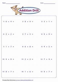 addition worksheets horizontal 8877 single digit addition worksheets