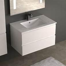 meuble vasque salle de bain profondeur cardo meuble vasque 80 cm blanc