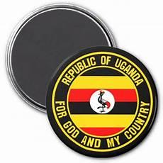 uganda emblem magnet zazzle uganda uganda