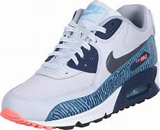nike air max 90 youth gs shoes grey blue