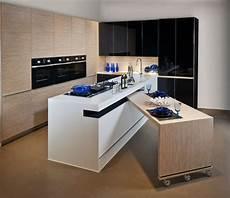table rétractable cuisine table sur cach 233 e dans l ilot de cuisine