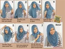 Cara Memakai Jilbab Segi Empat Sederhana Model Jilbab