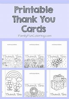 Thank You Card Template Pages by Printable Thank You Cards To Color Familyfuncoloring