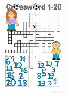 crossword 1 20 worksheet free esl printable worksheets made by teachers