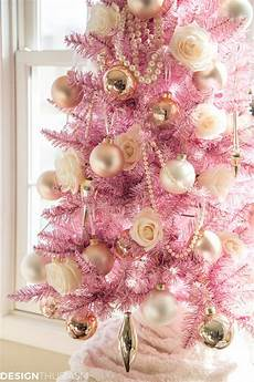 using a pink christmas tree for holiday style