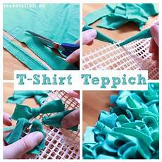 Alte T Shirts Verwerten - wuschel teppich aus alten t shirts kn 252 pfen deko
