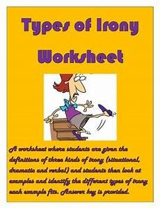 types of irony worksheet for grades 9 12 by gale johnson tpt