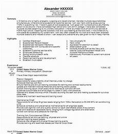 0311 infantry united states marine corps resume exle usmc oceanside california