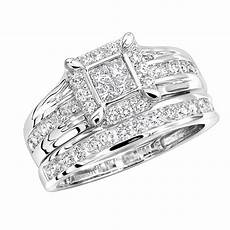 cheap bridal wedding ring sets cheap engagement ring sets 1 carat diamond bridal ring in 14k gold