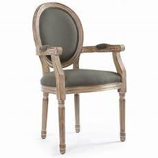 chaises m 233 daillon louis xvi tissu gris lot de 2 pas cher