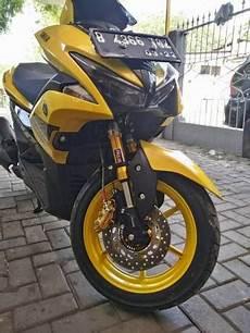 Modifikasi Aerox 155cc by Modifikasi Yamaha Aerox 155 Kuning Pakai Dan