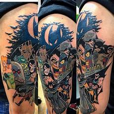this amazing tas tattoo sleeve batman