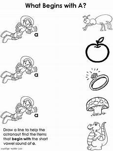 draw a line short vowel worksheets