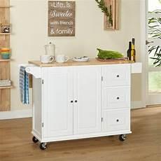 Kitchen Cart Deals by Simple Living Aspen 3 Drawer Spice Rack Drop Leaf Kitchen