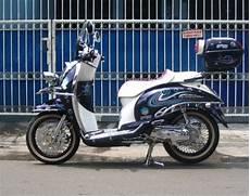 Modifikasi Scoopy Retro by Modifikasi Honda Scoopy Touring Retro Desain Honda