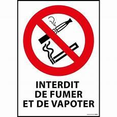 Panneau Interdiction De Fumer Et Vapoter Securinorme