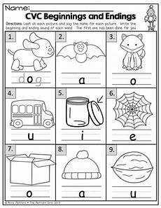 beginning and ending sounds for cvc words kindergarten language arts kindergarten reading