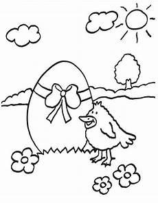 kostenlose malvorlage ostern vogel mit riesigem osterei