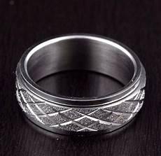 unisex mens womens stainless steel diamond cut rolling wedding band ring 8mm ebay
