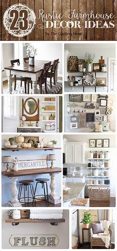 Rustic Chic Home Decor Ideas by 23 Rustic Farmhouse Decor Ideas The Crafting Nook