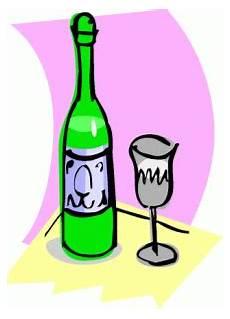 weinflasche mit glas ausmalbild malvorlage gemischt