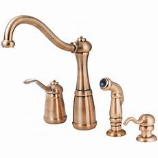 copper kitchen faucet faucet t26 4nrr in antique copper by pfister