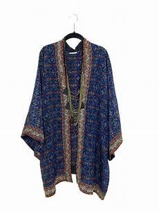 Soie Veste Kimono En Longueur Plus Courte Avec Par