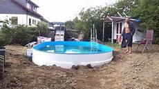 Pool Selber Bauen Mit Sitzpool Und Holzheizung