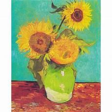 i fiori di gogh vaso con tre girasoli sta su tela 80x100 gogh