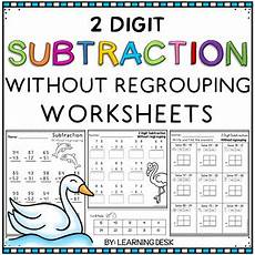 subtraction worksheets without regrouping 2 digits 10732 2 digit subtraction without regrouping worksheets by learning desk