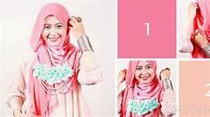 Tutorial Jilbab Segi Empat Dua Warna Ide Perpaduan Warna