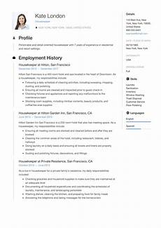 resume guide housekpeer 12 resume sles pdf 2020