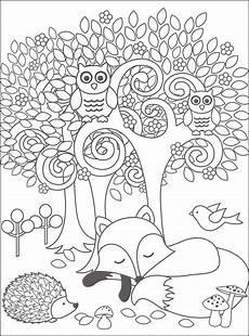 Ausmalbilder Tiere Pdf Ausmalbilder F 252 R Erwachsene Fuchs Zum Ausdrucken