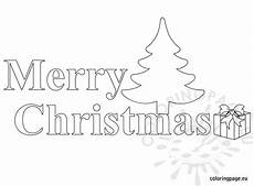 merry christmas text black and white coloring page