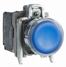 bouton poussoir lumineux affleurant 1no 1nf bleu 1