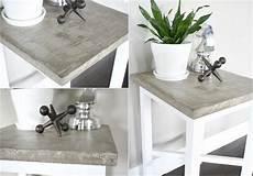 tischplatte betonoptik tisch in betonoptik selber machen ideen mit effektspachtel