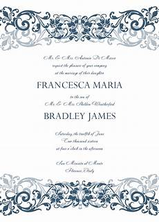 Wedding Invitations Format