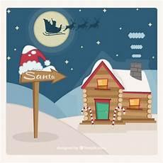 Malvorlagen Weihnachtsmann Haus Weihnachtsmann Haus Kostenlose Vektor
