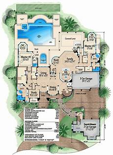 house plans with two master suites two master suites 66340we architectural designs