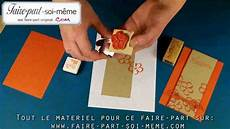 Carte D Invitation Orange Fleurie