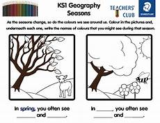 seasons ks2 science worksheets 14852 ks1 geography seasons colouring and literacy worksheet teachwire teaching resource