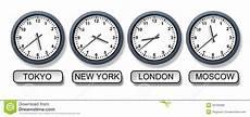World Time Zone Clocks Stock Illustration Illustration Of