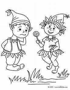 elves coloring pages hellokids