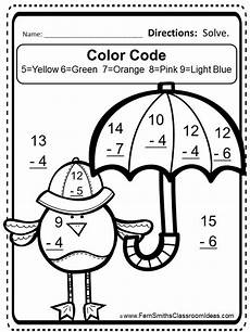 free mixed subtraction spring task cards and printable fern smith s classroom ideas