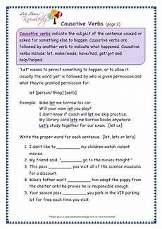 grade 3 grammar topic 41 causative verbs worksheets lets share knowledge