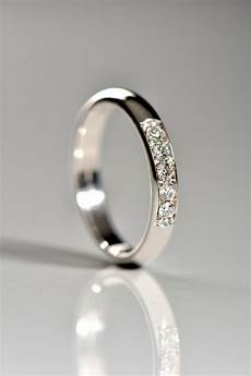 classic 3mm wide diamond wedding ring in 18ct white