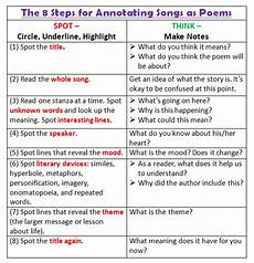 analyzing poetry worksheet answer key 25546 breaking poetry analysis with songs poetry lessons teaching poetry teaching literature