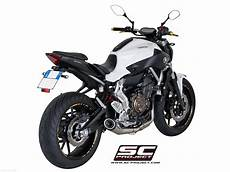 yamaha mt 07 sc project conic exhaust by sc project yamaha mt 07 2016 y14 c21a