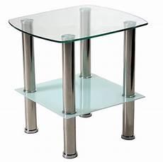 Beistelltisch Glas Edelstahl - beistelltisch aus glas f 252 223 e in edelstahl kaufen bei
